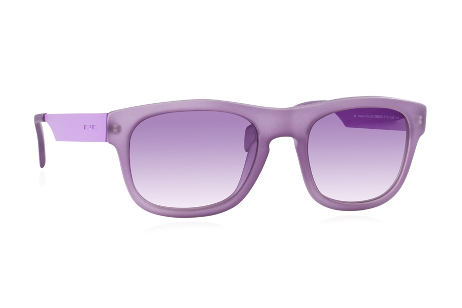 Italia Independent 0080 Sunglasses in 017 Violet / Violet / Shaded
