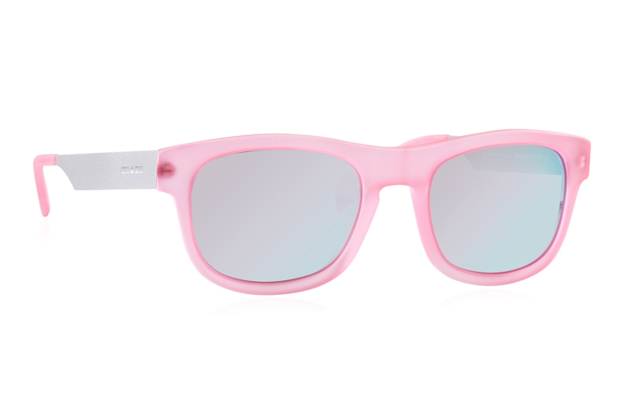 Italia Independent 0080 Sunglasses in 018 Fuxia Led / Silver / Mirrored