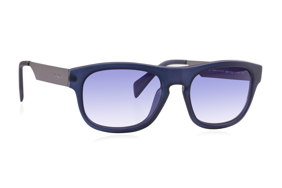 Italia Independent 0080 Sunglasses in 022 Blue / Blue / Shaded