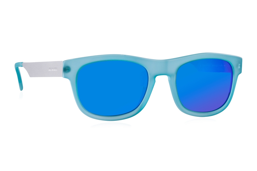 Italia Independent 0080 Sunglasses in 027 Sky Led / Blue / Mirrored