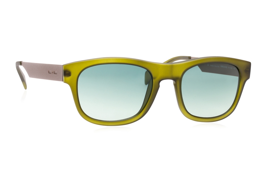 Italia Independent 0080 Sunglasses in 032 Green / Green / Shaded
