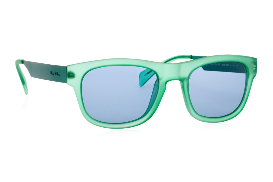 Italia Independent 0080 Sunglasses in 036 Aqua Green / Blue / Shaded
