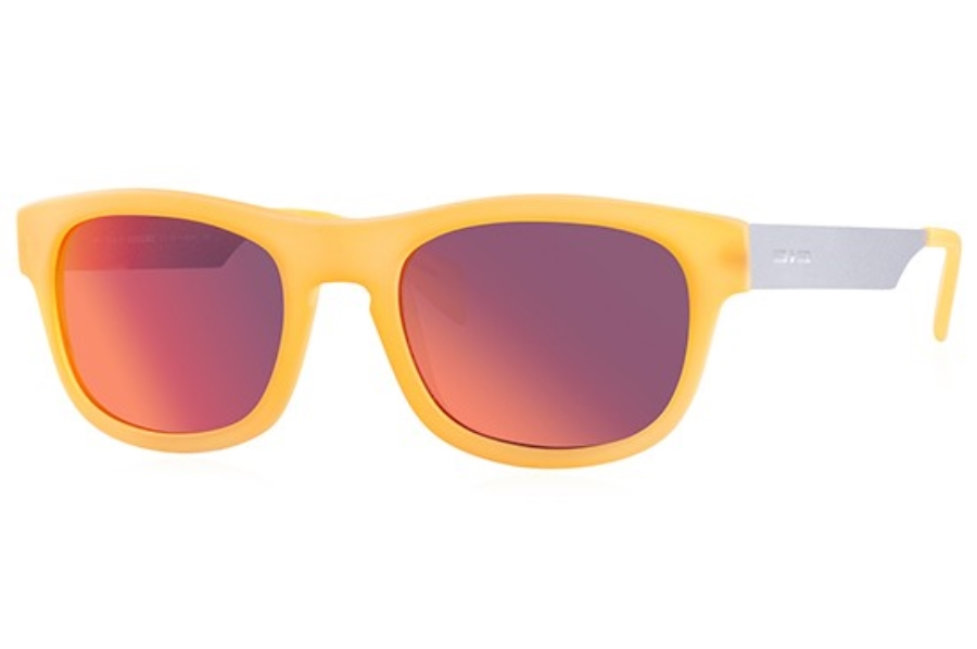 Italia Independent 0080 Sunglasses in 055 Orange Led / Orange / Mirrored