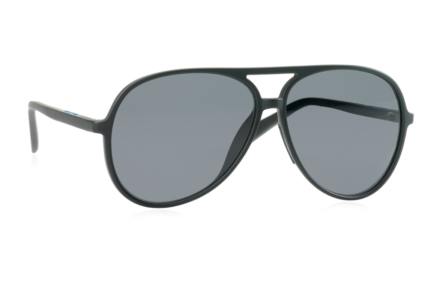 Italia Independent 0402 Sunglasses in 009 Black w/ Grey / Fullshaded