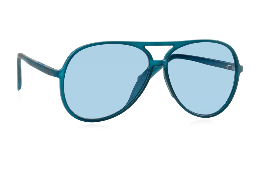 Italia Independent 0402 Sunglasses in 022 Blue w/ Blue / Fullshaded