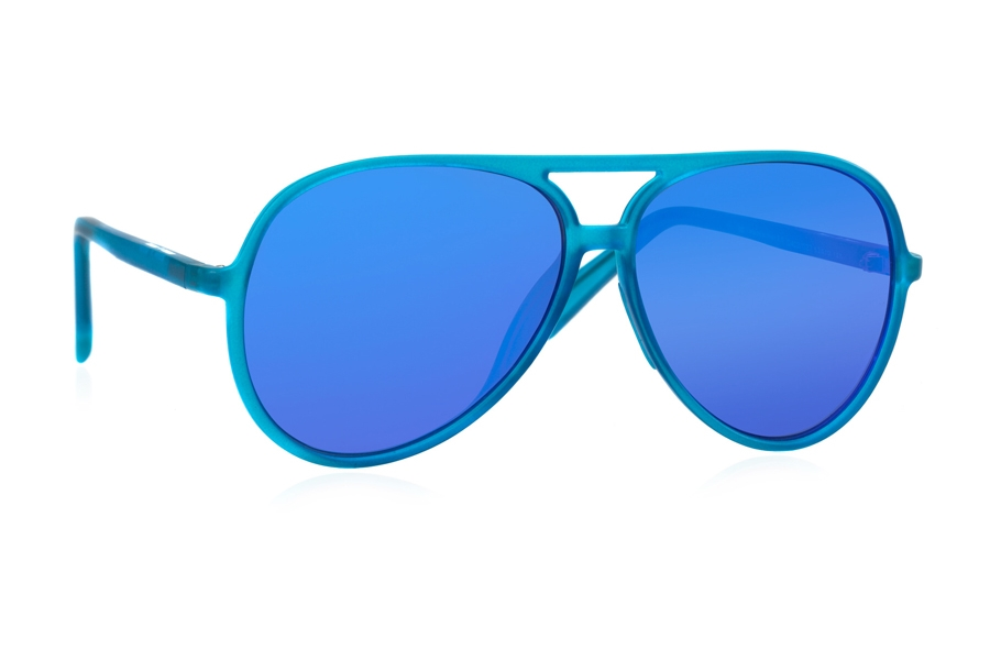 Italia Independent 0402 Sunglasses in 027 Sky Led w/ Blue / Mirrored