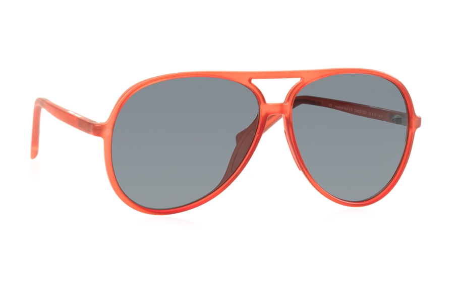 Italia Independent 0402 Sunglasses in 051 Ruby w/ Grey / Fullshaded