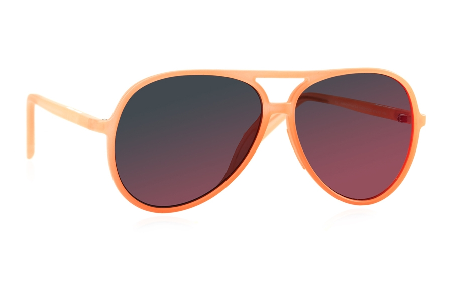 Italia Independent 0402 Sunglasses in 052 Orange w/ Violet / Mirrored