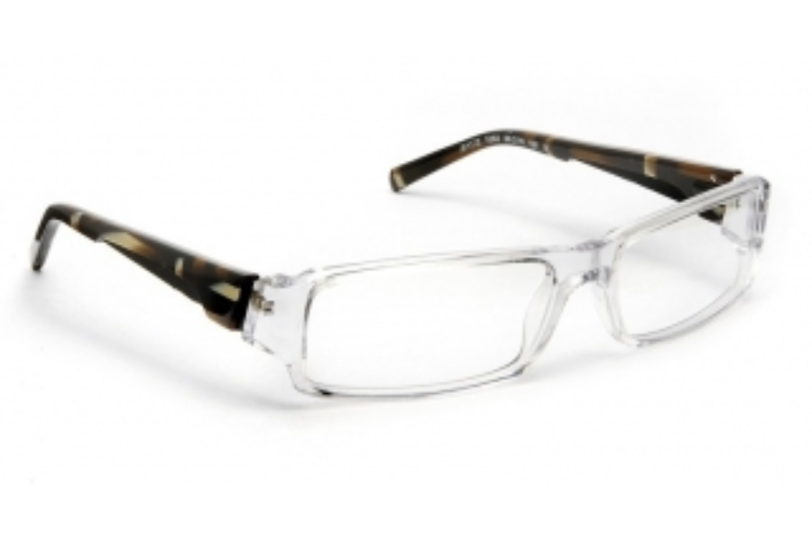 J.F. Rey JF 1172 Eyeglasses in 1092 Crystal / Brown Cubismo