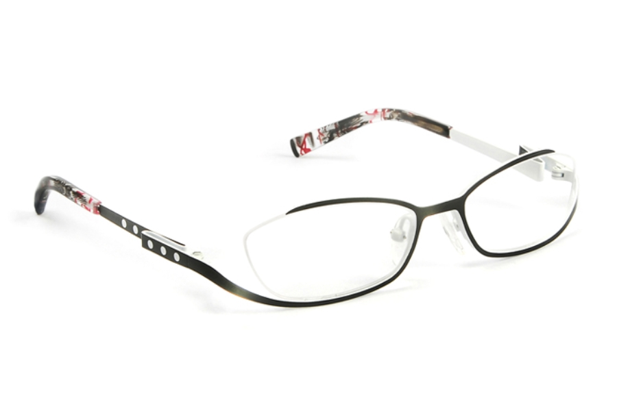 J.F. Rey Kids & Teens JKH HARMONY Eyeglasses in 0111 Black - White