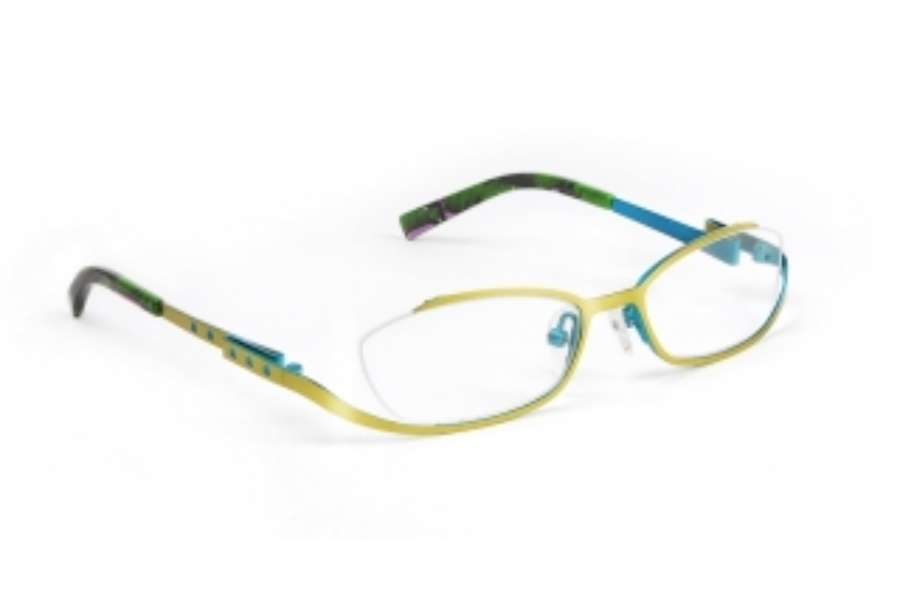J.F. Rey Kids & Teens JKH HARMONY Eyeglasses in 4820 Green - Blue