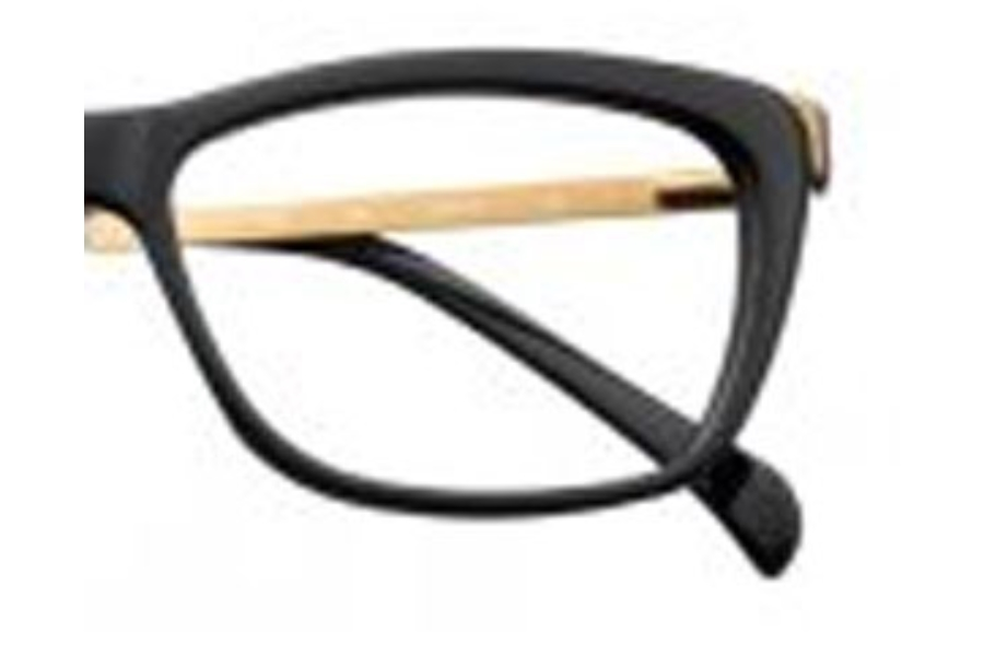 65f35706fe Jai Kudo Jai Kudo 1851 Eyeglasses in P01 Black Gold ...