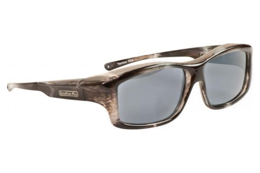 Fitovers Yamba Sunglasses in YM002 Blue Marble w/ Polarvue Gray Lenses