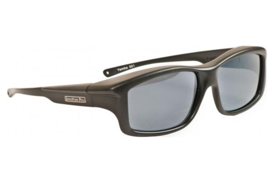 Fitovers Yamba Sunglasses in YM001 Satin Black w/ Polarvue Gray Lenses