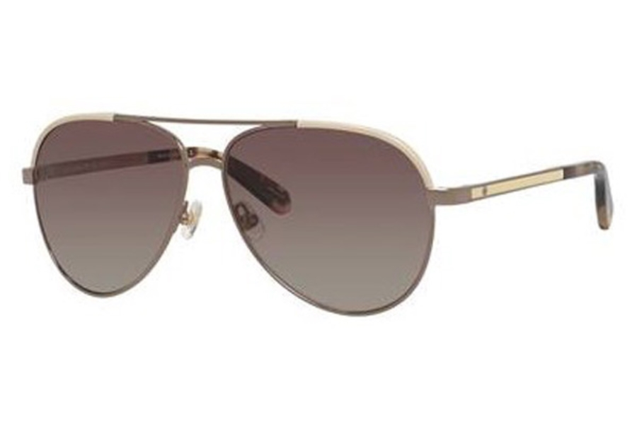 Kate Spade AMARISSA/S Sunglasses in 0F45 Beige Brown (LA brown gradient polz lens)