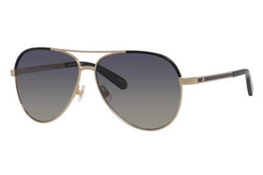 Kate Spade AMARISSA/S Sunglasses in 0RHL Gold Black (WJ gray sf pz lens)