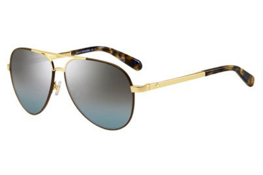 Kate Spade AMARISSA/S Sunglasses in 001Q Gold Brown (GO gray azure silver lens)