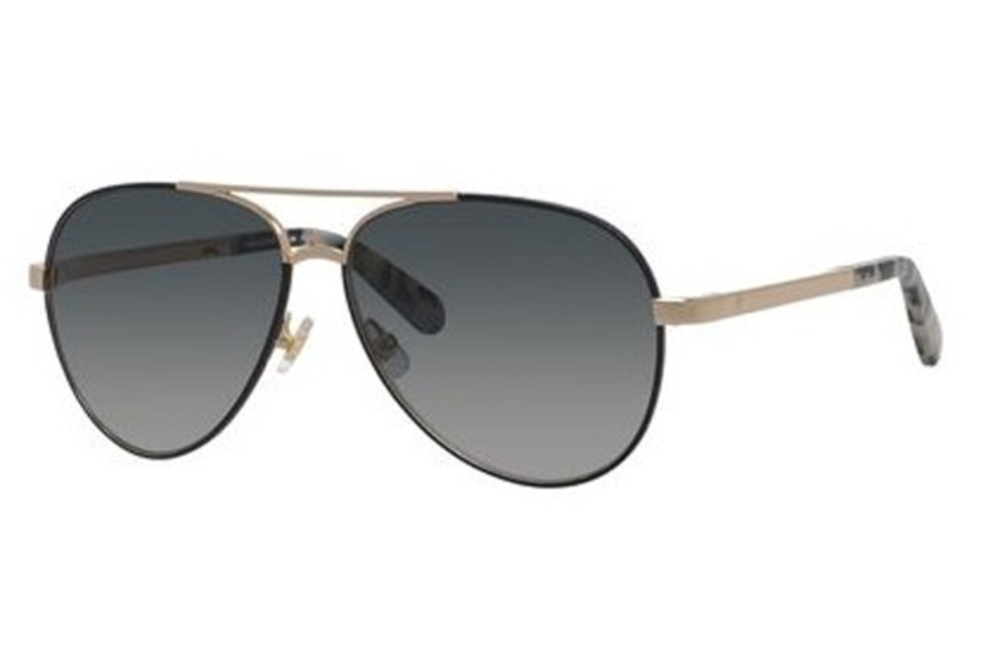 Kate Spade AMARISSA/S Sunglasses in 02M2 Black Gold (9O dark gray gradient lens)