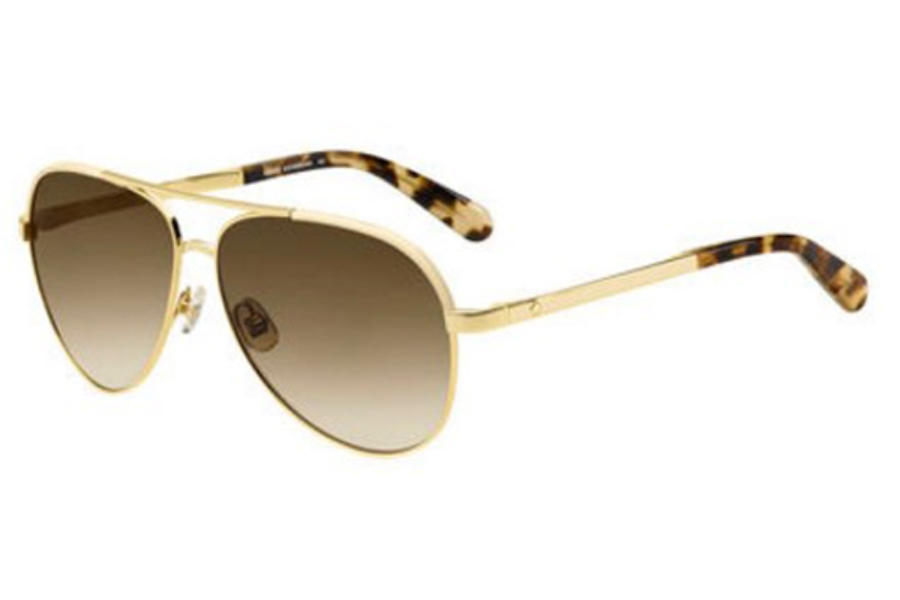 Kate Spade AMARISSA/S Sunglasses in 00NR Gold Brown Havana (HA brown gradient lens)