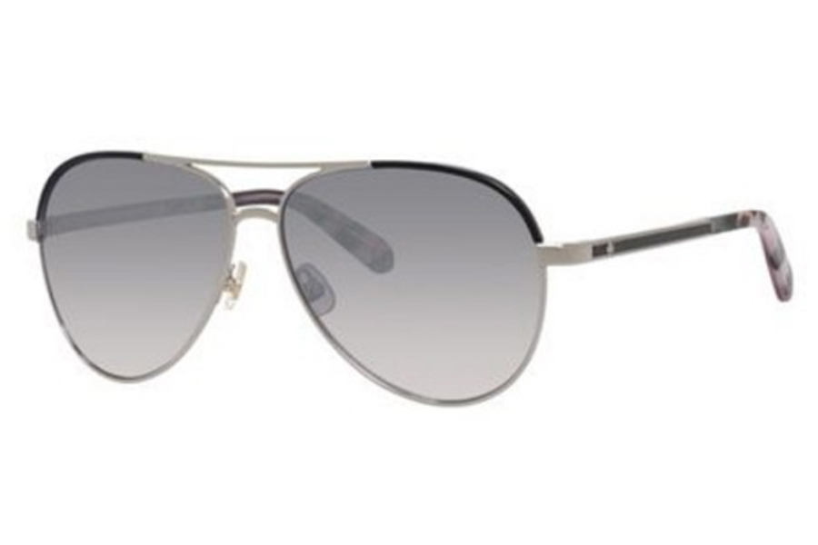 Kate Spade AMARISSA/S Sunglasses in 084J Palladium Black (QP gray silver flash mirror gradien lens)