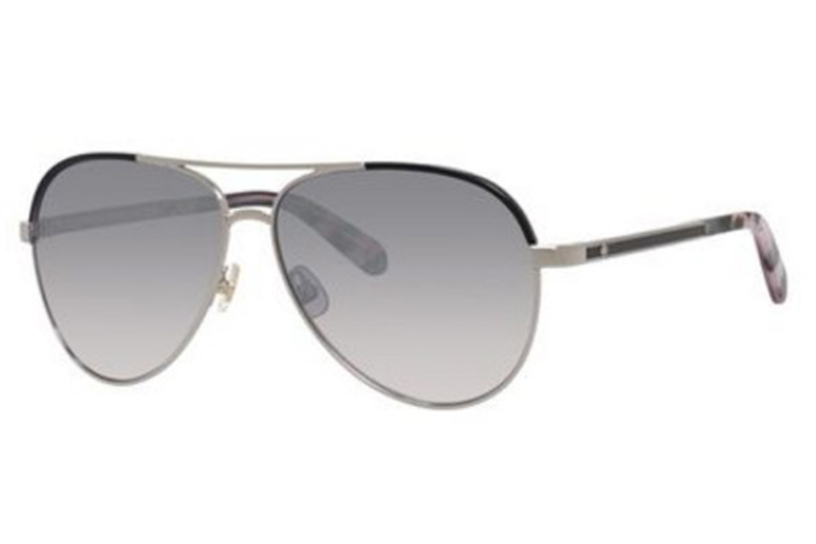 Kate Spade AMARISSA/S Sunglasses in 0RHL Gold Black (DX dark gray shaded lens)