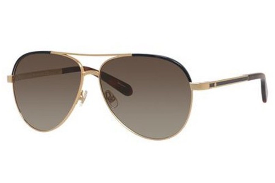 Kate Spade AMARISSA/S Sunglasses in 0TAV Gold Havana (HA brown gradient lens)