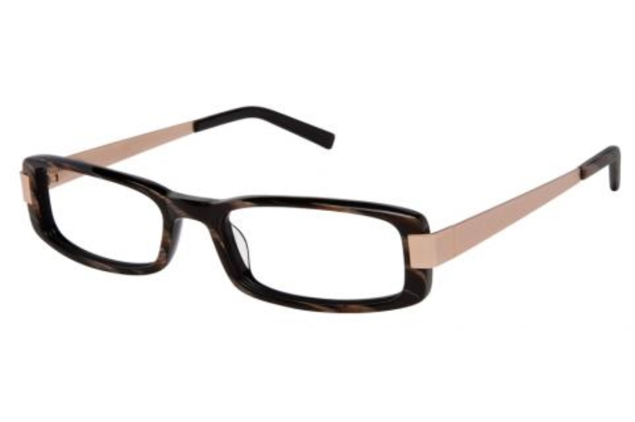 Kay Unger K534 Eyeglasses in Brown/Gold