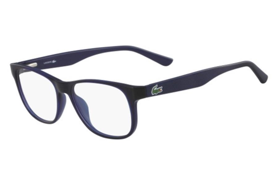 1fd6aa78e2a5 Lacoste L2743 Eyeglasses in 414 Transparent Blue ...