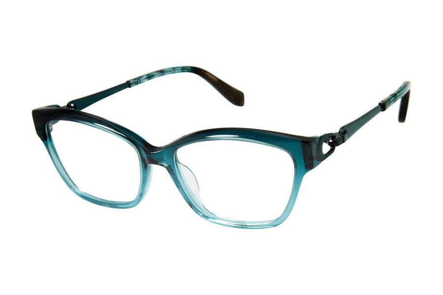 Tura by Lara Spencer LS100 Eyeglasses in TEA Teal