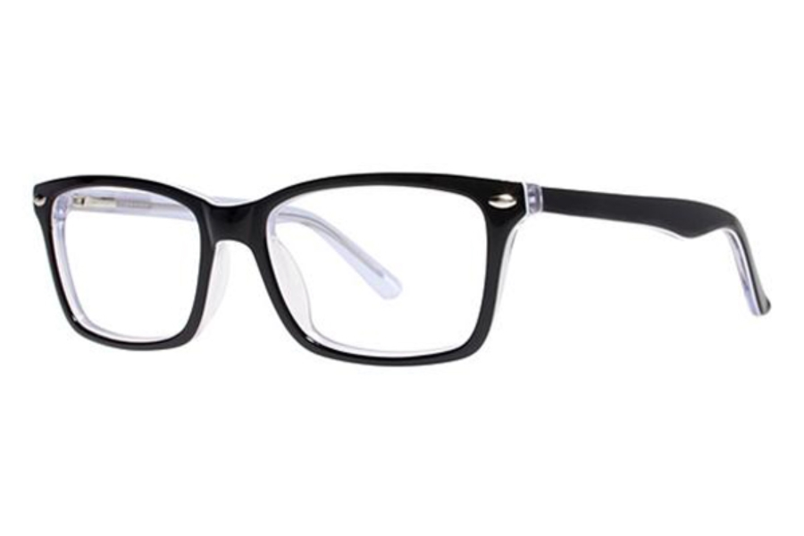 Modern Art A332 Eyeglasses in Black/Crystal