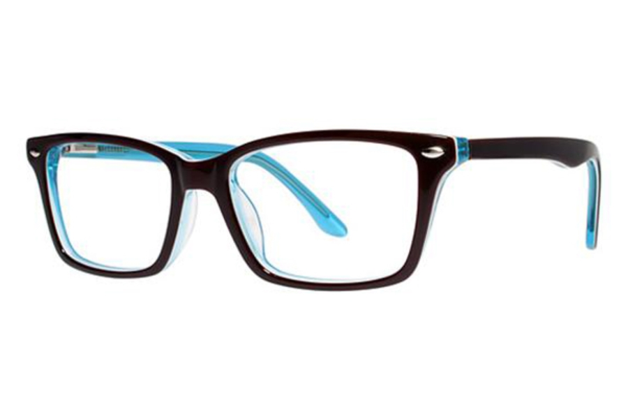 Modern Art A332 Eyeglasses in Brown/Blue