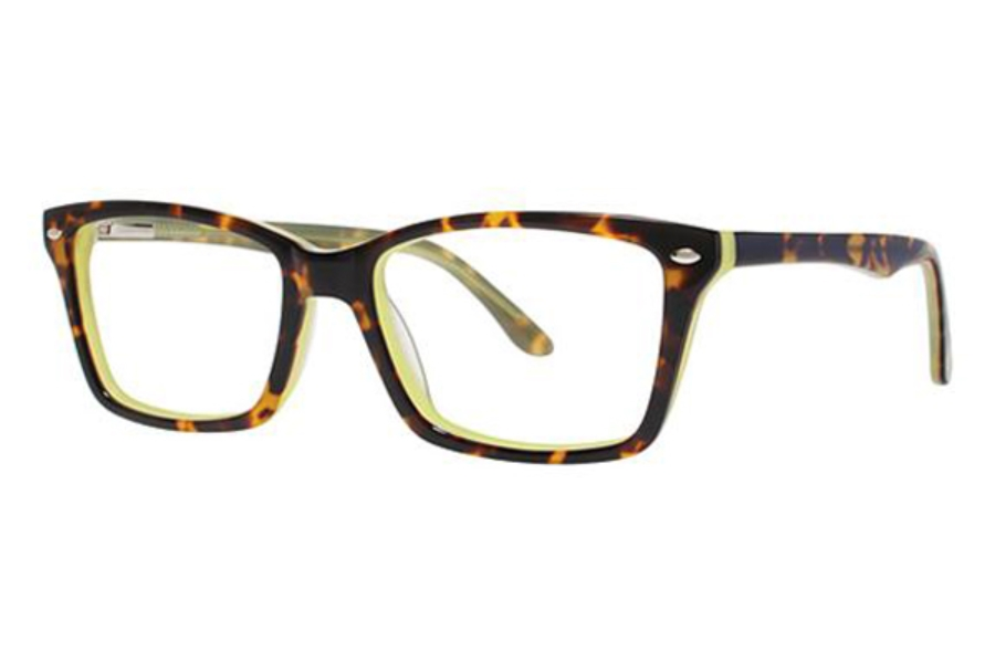 Modern Art A332 Eyeglasses in Tortoise/Green
