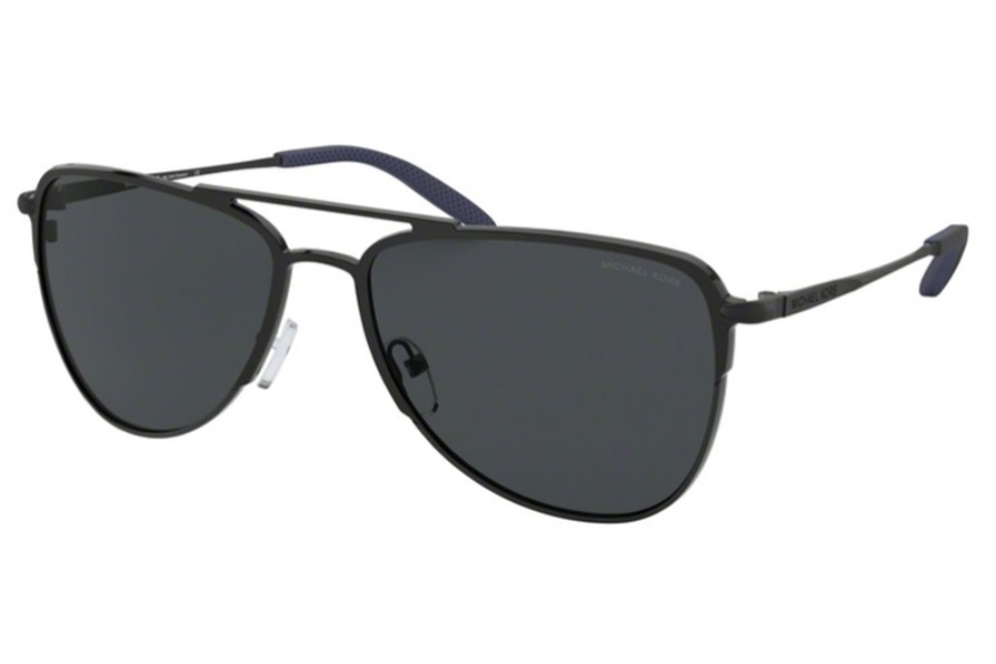 Michael Kors MK1049 DAYTON Sunglasses in 120281 Matte Black w/Dark Grey Solid Polar