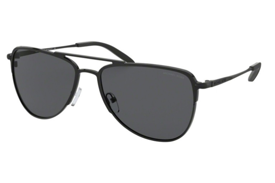 Michael Kors MK1049 DAYTON Sunglasses in 120287 Matte Black As Proto w/Dark Grey Solid