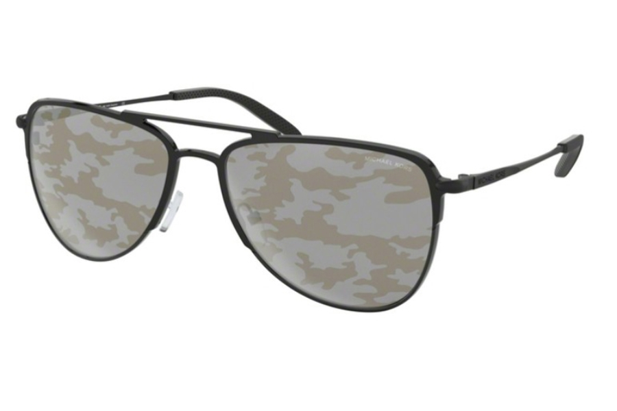 Michael Kors MK1049 DAYTON Sunglasses in 1202/E Matte Black As Proto w/Silver/Gold Camo