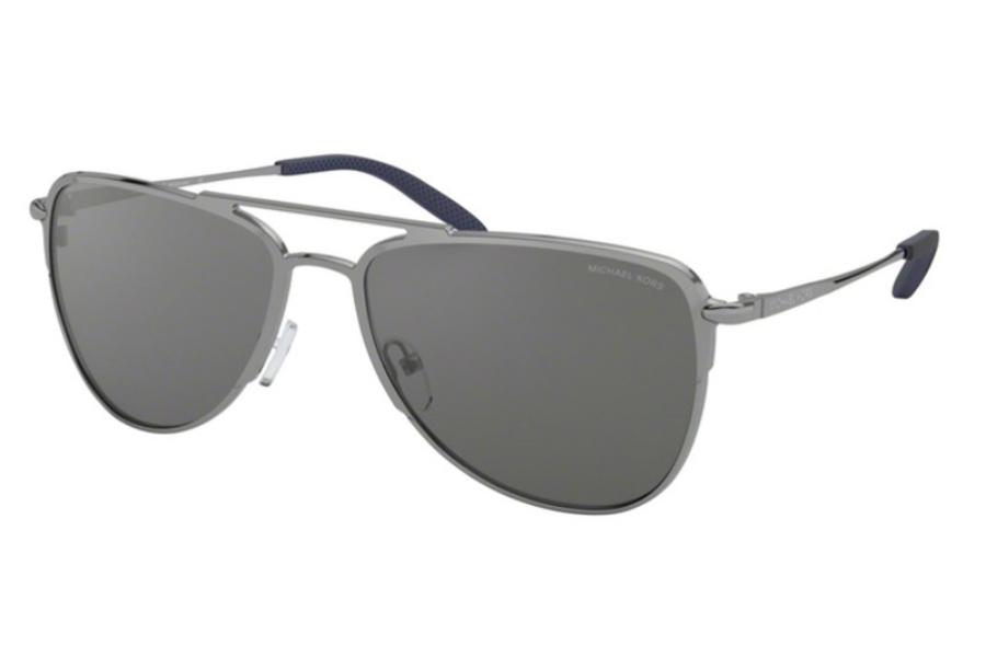 Michael Kors MK1049 DAYTON Sunglasses in 1232Z3 Shiny Gunmetal w/Silver Mirror Polar