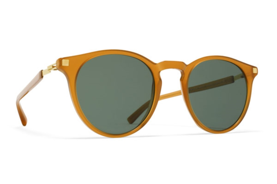 aaf47a50de3a ... Mykita Alfur Sunglasses in C23 Dark Amber Glossy Gold w  Dark Green  Solid Lens  Mykita Alfur Sunglasses in C9 Santiago Gradient Shiny ...