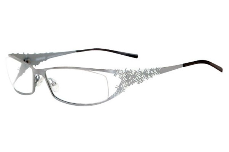 Noego Virus 5 Eyeglasses in C96 Chrome + White