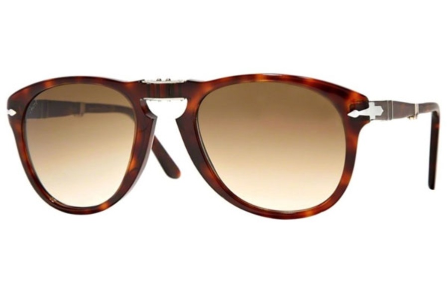 Persol PO 0714 Folding Sunglasses in 24/51 Havana Crystal Brown Gradient (Discontinued)