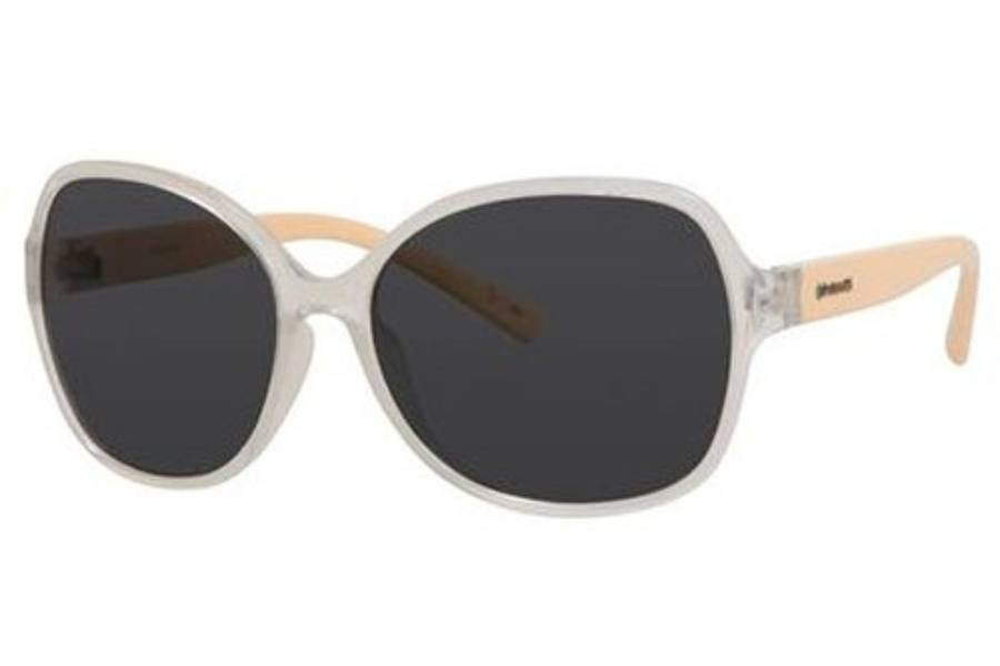 Polaroid PLD 4018/S Sunglasses in 0QAI Transparent Ivory (Y2 gray polarized lens)