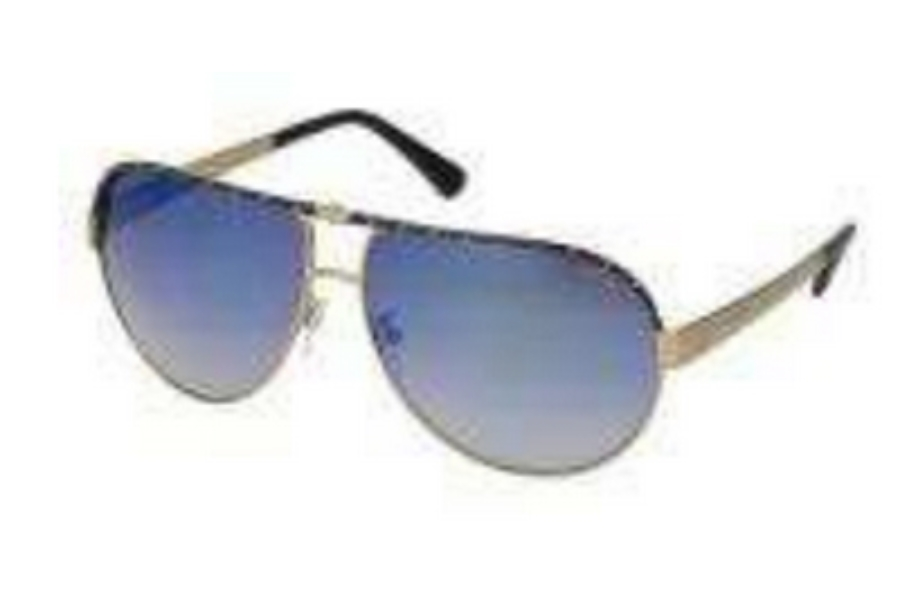Police Police S8844 Sunglasses in UZB Black-Gold/Gradient Mirrored Blue