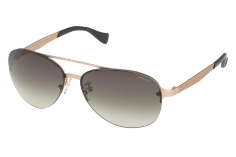 Police Police S8956 Sunglasses in 0648 Pink Gold/Brown