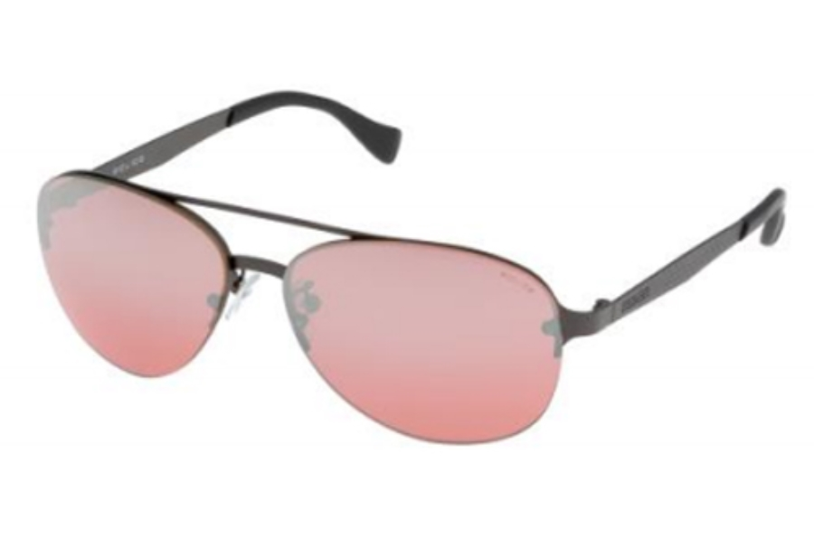 Police Police S8956 Sunglasses in 627X Matte Gun Metal/Red Mirror