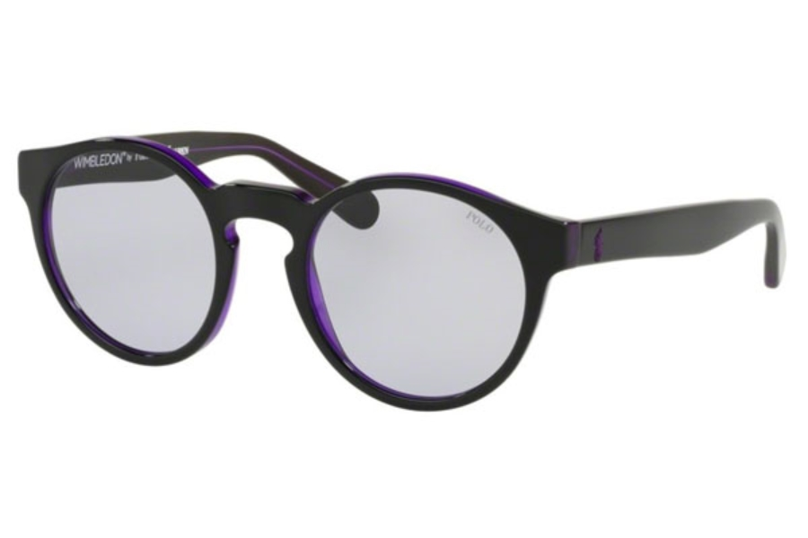 Polo PH 4101 Sunglasses in 56991A Black Top Trasparent Purple / Lillac