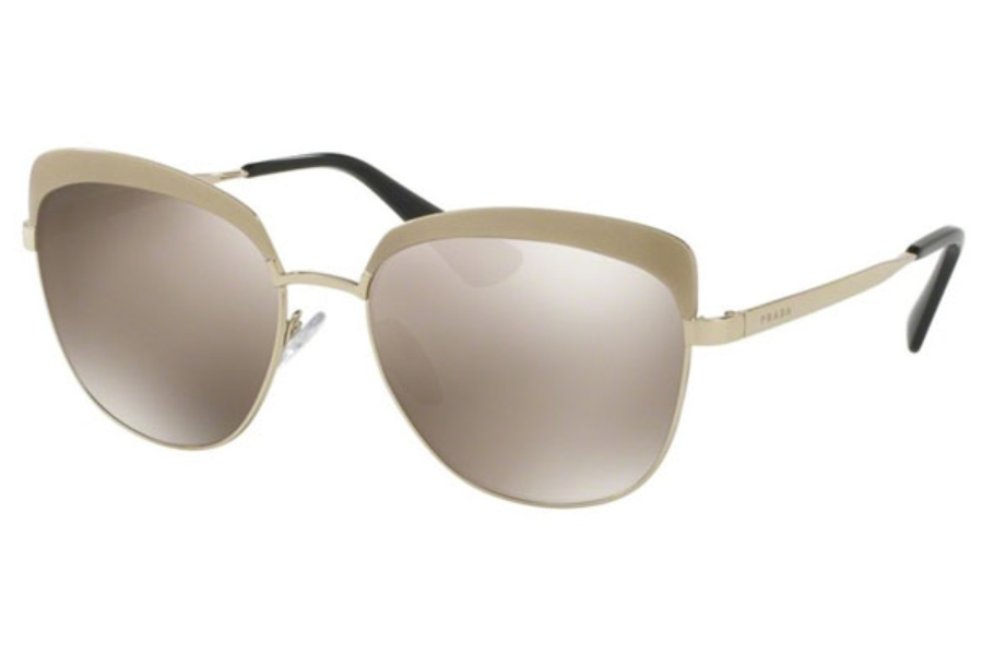7227d41afce35 ... Gold Black   Violet  Prada PR 51TS Sunglasses in VAQ1C0 Metallized Pale  Gold   Light Brown Mirror Gold ...