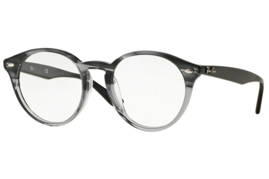 d3668b5404a ... 5540 Grey Horn Grad Trasp Grey  Ray-Ban RX 2180VF Eyeglasses in 5571  Striped Grey Gradient ...