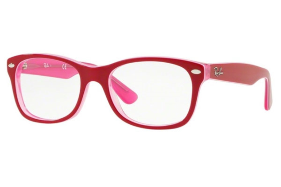 dc686127f249 ... 3542 - BLACK; Ray-Ban Youth RY 1528 Eyeglasses in 3761 Trasp Pink On  Top Bordeaux ...