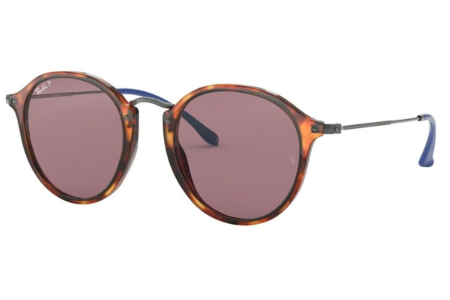 Ray-Ban RB 2447 Sunglasses in 1245W0 Red Havana / Violet Polar (Discontinued)