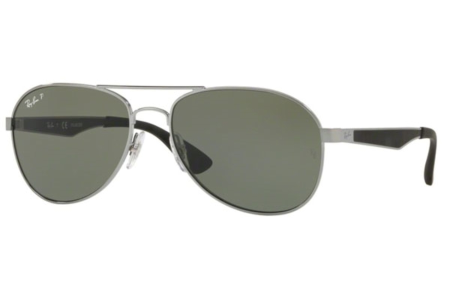Ray-Ban RB 3549 Sunglasses in 004/9A Gunmetal / Polar Green
