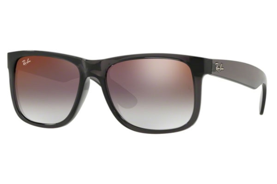 Ray-Ban RB 4165 JUSTIN Sunglasses in 606/U0 Trasparent Grey / Grey Gradient Mirror Red